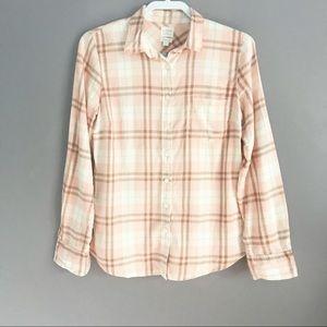 J.Crew Perfect Fit Button Front Plaid Shirt Size S
